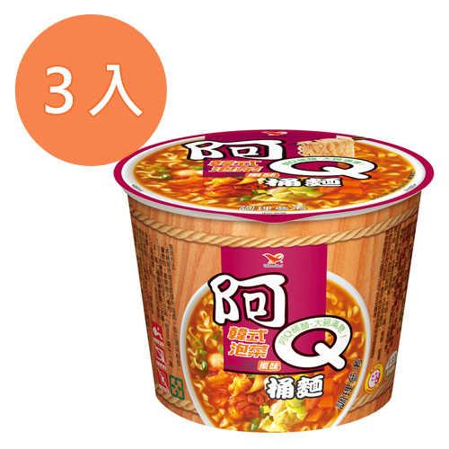 阿Q桶麵韓式泡菜風味102g(3入)/組【康鄰超市】