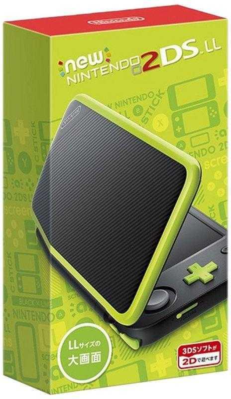 任天堂 New Nintendo 2DSLL 輕薄型日規機種 日文介面非3DSLL 黑X萊姆綠