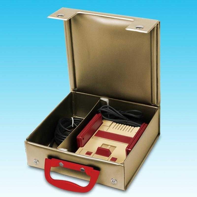 任天堂 FAMICOM 迷你版 任天堂迷你紅白機 新款 專用收納箱 手提箱 非主機 金色
