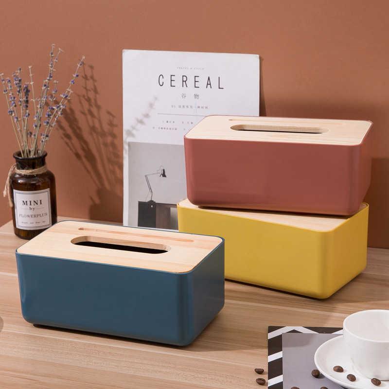 北歐風 木蓋面紙盒 抽取式 衛生紙盒 桌上型面紙盒 置物盒 餐巾紙盒 收納置物盒 收納 紙巾盒【RS1129】