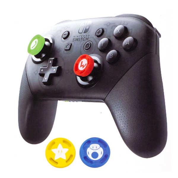 NS 瑪利歐 式樣 桿套 / 四入裝 / PRO手把、PS4手把皆適用 / 3D類比 桿套 / Nintendo Switch【電玩國度】