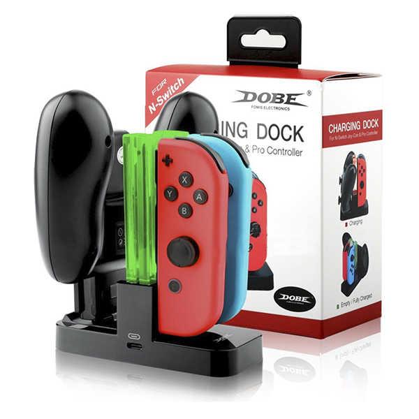 NS joy-con 多手把充電座 // PRO手把、主機也可充 // 副廠 DOBE // Nintendo Switch ※ 非HORI 【最強優惠】【電玩國度】