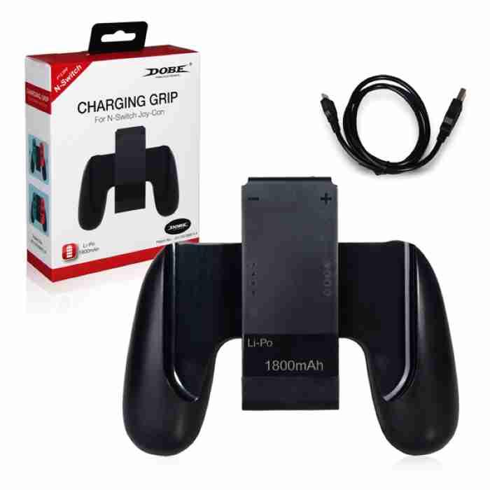 Switch NS DOBE Joy-Con 充電握把 充電手把 內建電池式 附充電線 【AS電玩】
