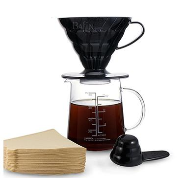 日本 HARIO V60經典咖啡濾杯4件組300ml
