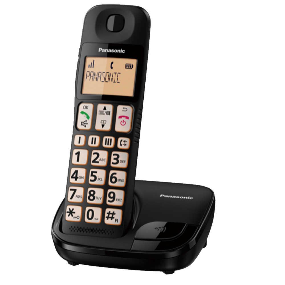 【公司貨免運】國際牌Panasonic KX-TGE110 TW 大字體大按鈕DECT數位無線電話