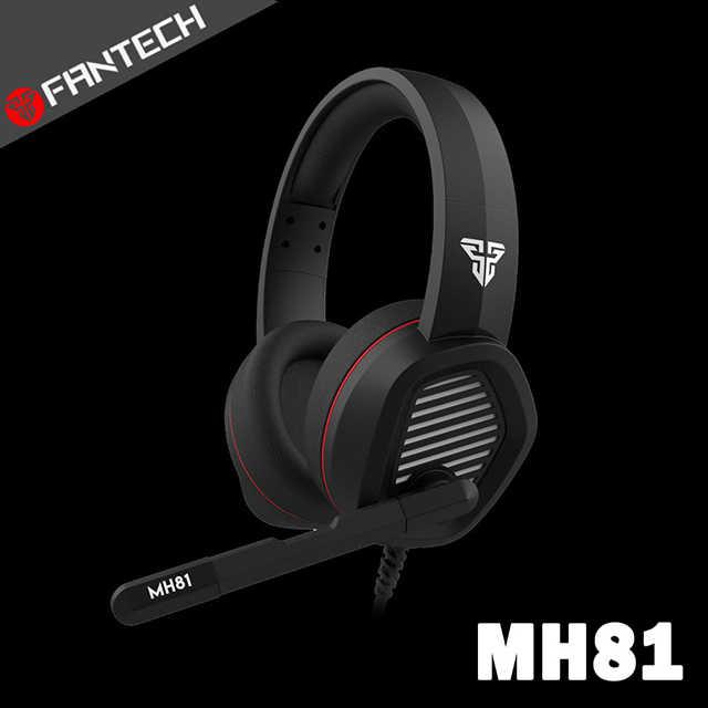 【FANTECH】手機/電腦遊戲雙用監聽式電競耳罩耳機(MH81)