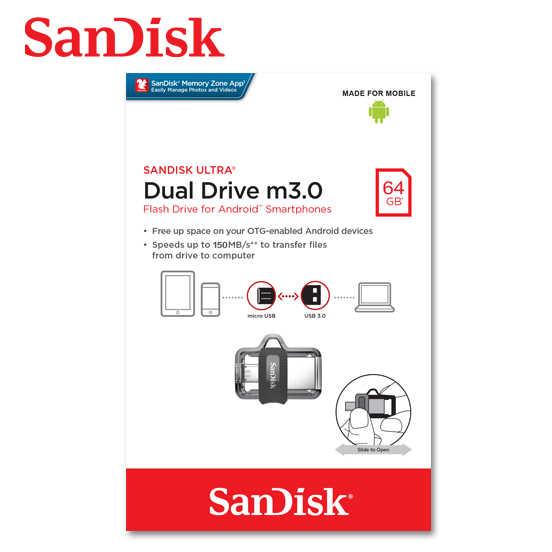 SANDISK 64G Ultra OTG m3.0 / USB 3.0 雙用隨身碟