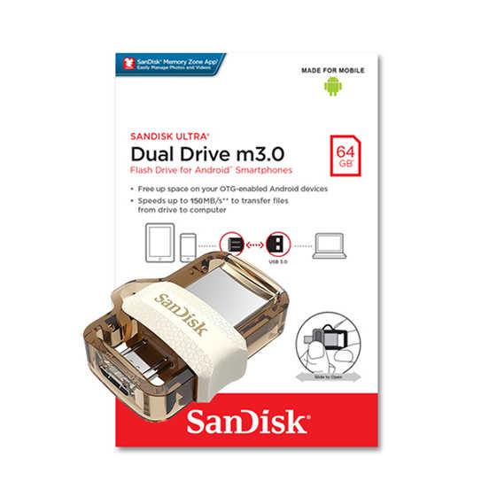SANDISK 限定版 64G Ultra OTG m3.0 琥珀色 USB 3.0 雙用隨身碟
