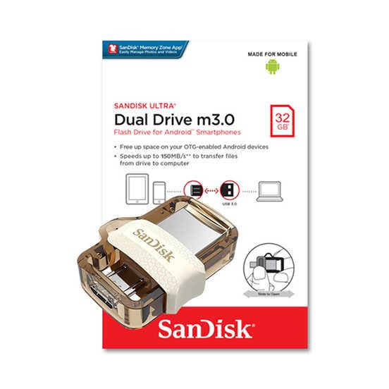 SANDISK 限定版 32G Ultra OTG m3.0 琥珀色 USB 3.0 雙用隨身碟