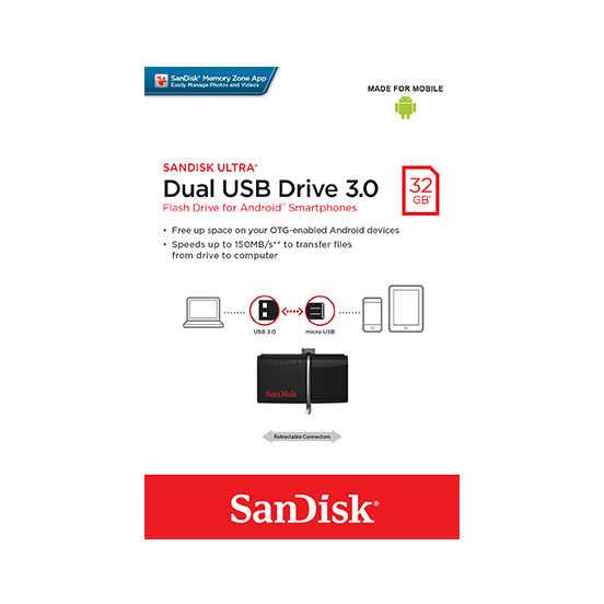 SANDISK Ultra OTG 32G USB 3.0 雙用 隨身碟 安卓手機平板適用 手機擴充