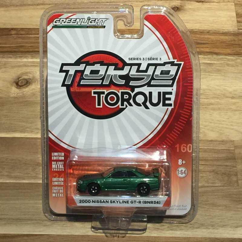 Greenlight 綠光 Tokyo Torque 3 2000 Nissan Skyline GT-R(BNR34)