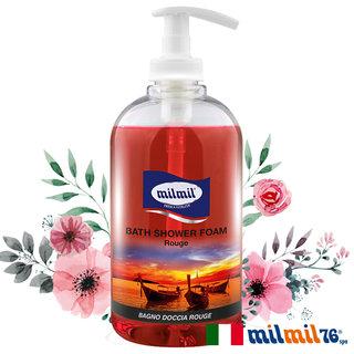 【義大利MILMIL】熱情嫣紅溫和潔膚香氛沐浴乳500ml