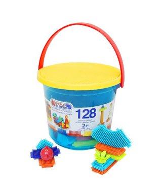 美國【B.Toys】感統玩具 鬃毛積木 叢林冒險系列(128PCS),BT3088Z