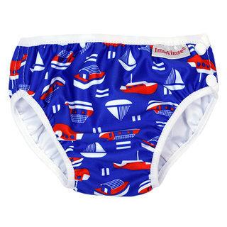 瑞典【ImseVimse】超彈性防漏游泳尿褲(藍色水手)