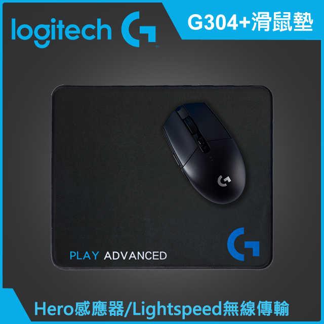 [富廉網]【Logitech】羅技 G304 無線電競滑鼠+ 電競鼠墊