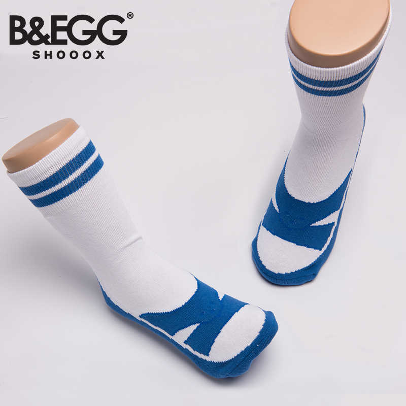 【雯麗沃拿多3C生活館】B&EGG 藍白拖襪-TW Blue 男襪 女襪 台灣製造