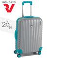 26吋行李箱RONCATO【海亞HAYACITY】義大利製造►UNO系列 超輕款PC 旅行箱 26吋 顏色 銀/湖水藍