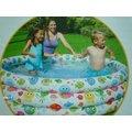 玩樂生活 美國INTEX 56440 彩色魚充氣游泳池 兒童戲水池 幼兒夏天玩水池 嬰兒遊戲球池 附修補片