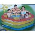 玩樂生活 美國INTEX 56495梅花型彩色充氣游泳池 兒童戲水池 幼兒夏天玩水池 嬰兒遊戲球池 有氣墊底 附修補片