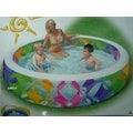 玩樂生活 美國INTEX 56494 彩色炫風充氣游泳池 兒童戲水池 幼兒夏天玩水池 嬰兒遊戲球池 有氣墊底 附修補片