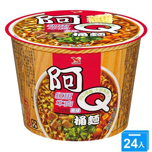 統一阿Q桶麵紅椒牛肉101Gx3x8