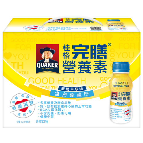 桂格完膳營養素-含白藜蘆醇配方237ml*6入
