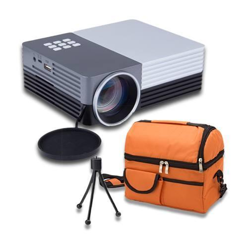 shop4fun 家用/戶外迷你手機連接 可攜投影機GM50 送收納包+三腳架 /常規