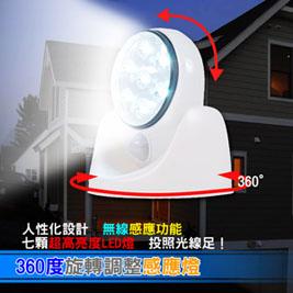 360度旋轉調整感應燈