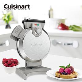 【Cuisinart美膳雅】直立式鬆餅機WAF-V100TW(附鬆餅糊