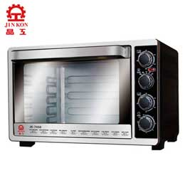 【晶工牌】45L大容量 雙溫控不鏽鋼旋風烤箱 JK-7450