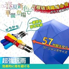 【家適帝】56吋超大傘面防潑水自動開雨傘 (春夏新色)