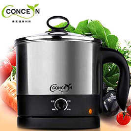 Concern 康生-美食達人不鏽鋼快煮美食鍋CON-HI001+贈不鏽鋼蒸架