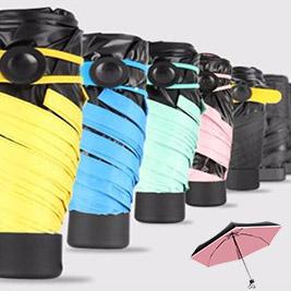 超迷你隨身五段折疊晴雨傘