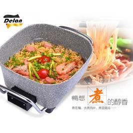 【Delan 德朗】2L 多功能蒸煮美食鍋/ DEL-5818 (岩燒