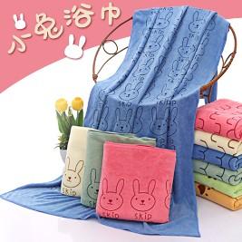 柔膚吸水兔兔大浴巾70x140cm