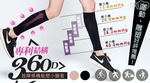 平均最低只要119元起(含運)即可享有【BeautyFocus】台灣製360D專利按摩感機能小腿套1組/3組/6組/12組。