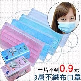 3層不織布口罩(60入/盒)