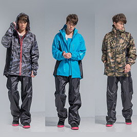 【OutPerform】玩酷迷彩兩件式風雨衣