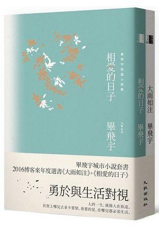 畢飛宇城市小說套書(大雨如注+相愛的日子)