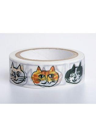 【獨家授權.和紙膠帶】中西直子插畫「我是貓」系列--童趣