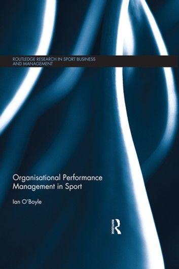 Organisational Performance Management in Sport