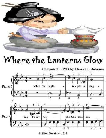 Where the Lanterns Glow - Easiest Piano Sheet Music Junior Edition