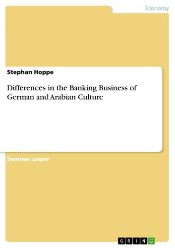 Differences in the Banking Business of German and Arabian Culture