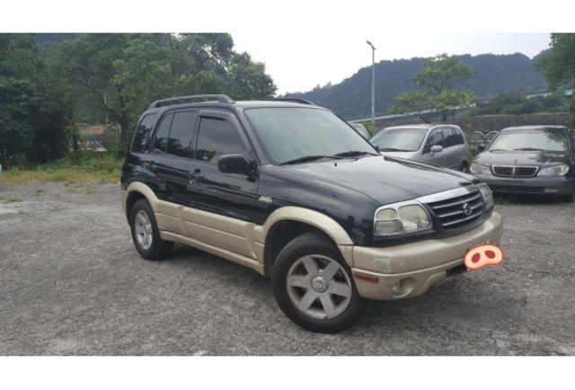 2004年鈴木/GRAND VITARA2.0cc黑棕色越野吉普車車況好4WD+鋼圈+雙安+ABS