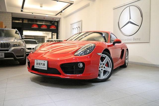 家明汽車 百大好店 - 2015年 Porsche Cayman S 紅