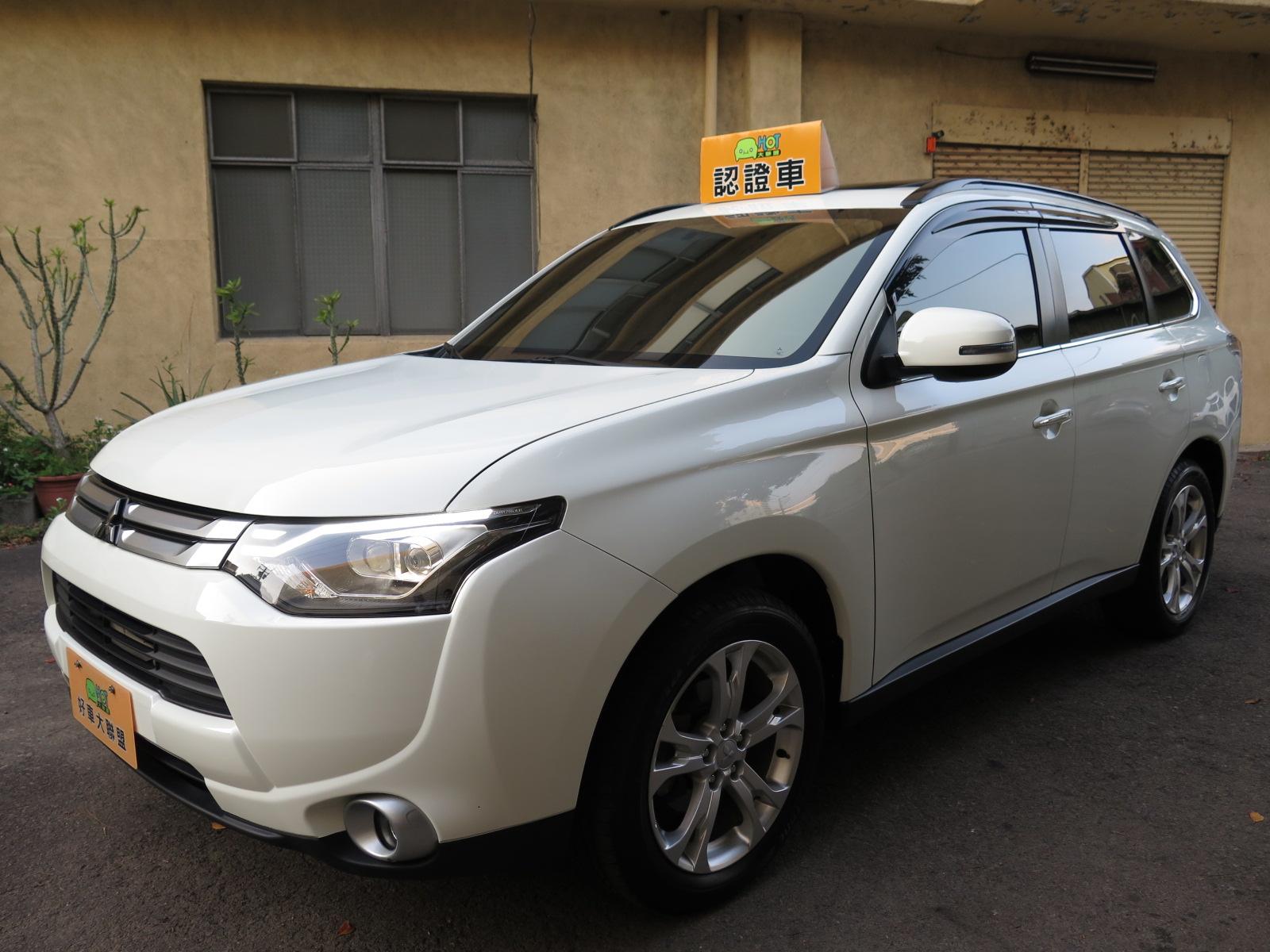 Mitsubishi(三菱) Outlander 15年4WD旗艦型天窗換檔撥片定速恆溫影音電尾門循跡新車107萬原板件原廠保固中 已通過HOT檢驗-認證車
