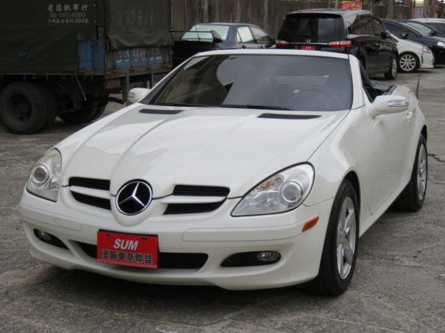 Benz SLK 280 電動硬頂敞篷 一手車庫車 市場稀有白 附保證保固  第1張相片