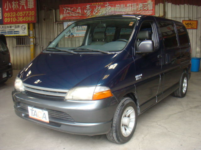 >~TACA優良車商聯盟~*{ 小林汽車 }* 正2000年 TOYOTA HIACE 豐田 海力士 2.7 藍灰雙色 自排 八人座