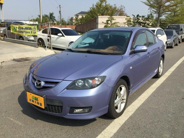 2007年 MAZDA 馬3 4門 2.0L 淺藍色 10年車里程僅跑6萬 僅有一台