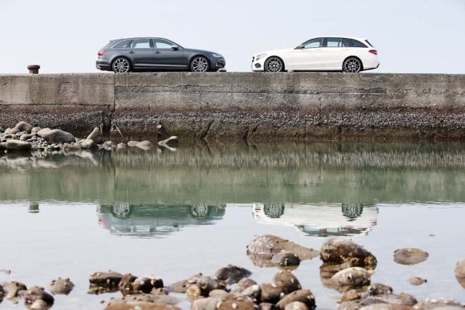 Audi S4 Avant vs. Mercedes-AMG C43 Estate-寒冰烈火掌(1/4)
